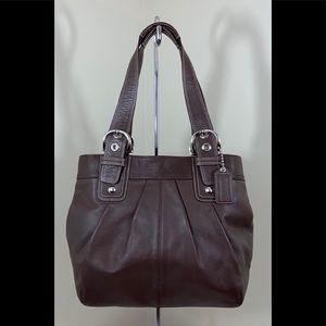 Coach Brown All Leather Shoulder Handbag